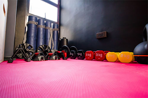 Work a sweat in The Boiler Room rooftop gym